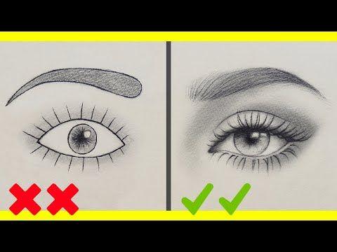 تعلم الرسم اخطاءك في رسم العين وكيف ترسمها بشكل صحيح رسم العين بالرصاص للمبتدئين Youtube Pencil Art Drawings Beauty Art Drawings Art Drawings Simple