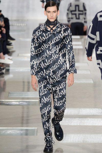 On the catwalk at Louis Vuitton Autumn-Winter 2016 Men Fashion Show #PFW #RTW #AW16 #LouisVuitton #LVMH