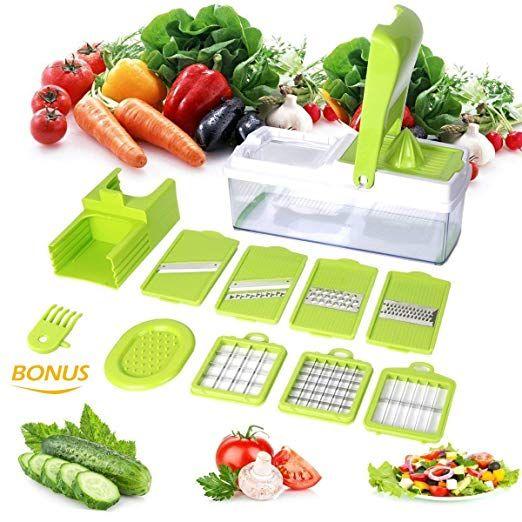 Edelstahl Gemüse Obst Zwiebel Kartoffelschneider Slicer Chopper Kitchen Tools