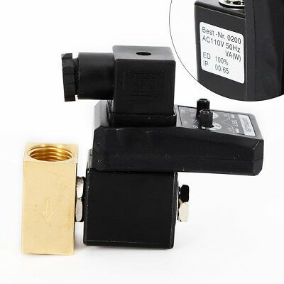 Electronic Timed Air Compressor Gas Tank Automatic 2-way Drain Valve 1//2