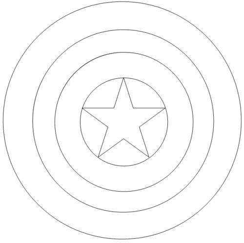 Coloring Pages Captain America Logo Page