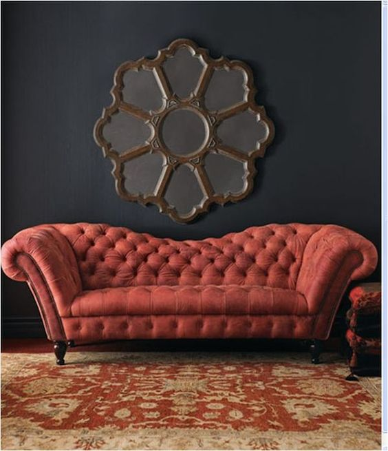 chesterfield sofa colores de pintura terciopelo rojo y muebles. Black Bedroom Furniture Sets. Home Design Ideas