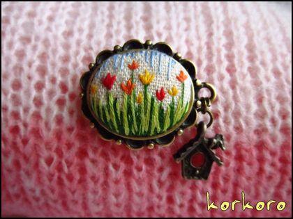 """Броши ручной работы. Ярмарка Мастеров - ручная работа Брошь """"Весна идёт!"""". Handmade."""
