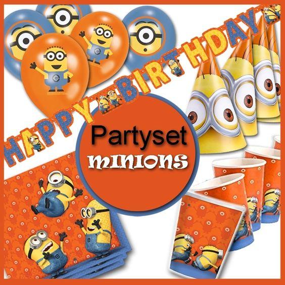 Partypaket Minions Kindergeburtstag - Party Deko Set zum Sparpreis