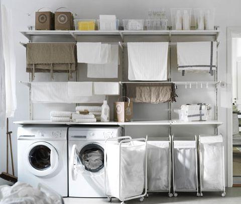 Organisatie Berging IKEA Algot Storage Pinterest Laundry - Laundry room ideas ikea