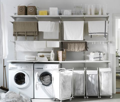Laundry spaces and ikea on pinterest - Ikea rangement cellier ...