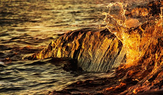 https://flic.kr/p/Bu158w | Kissed by sun. | Here on the east coast the storm is much less dramatic than on the west. But still enough life in water to give a certain drama, when lying on the rocks and watch the waves kissed by the sun, hear the sound when hitting the rocks.  Used a texture from Marezia57, thank you.    Thank you all for kind visit and comment!   Sorry for delay, was busy in the weekend. The party! :)