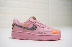 146466e30517cd Women s Just do it Nike Air Force 1 Low Pink Black Orange 616725-800 Girls Casual  Shoes