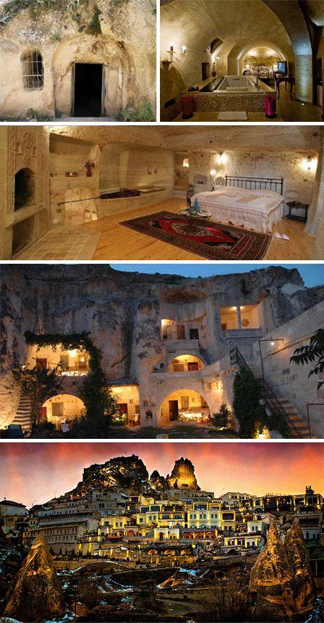 Cave homes in Cappadocia, Turkey