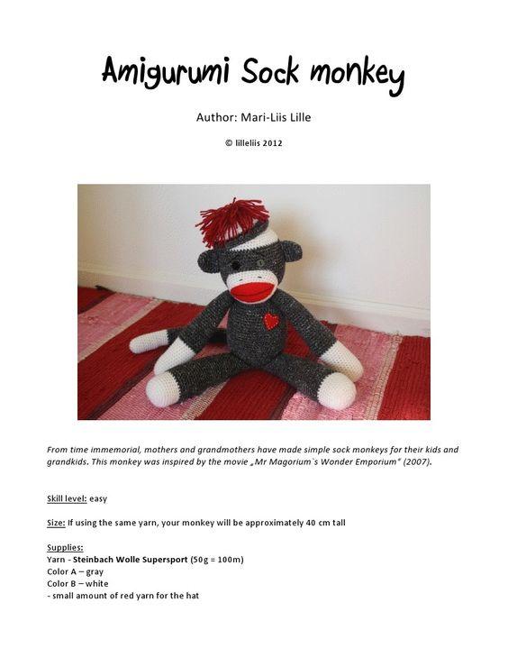 #Free Pattern; crochet; sock monkey Knit - Crochet ...