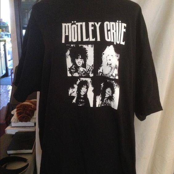 MOTLEY CRUE Tshirt. Brand new. SZ 2x Get your metal on . Brand new never worn Crue shirt. Size 2x. Old school photo of them!! Tops Tees - Short Sleeve