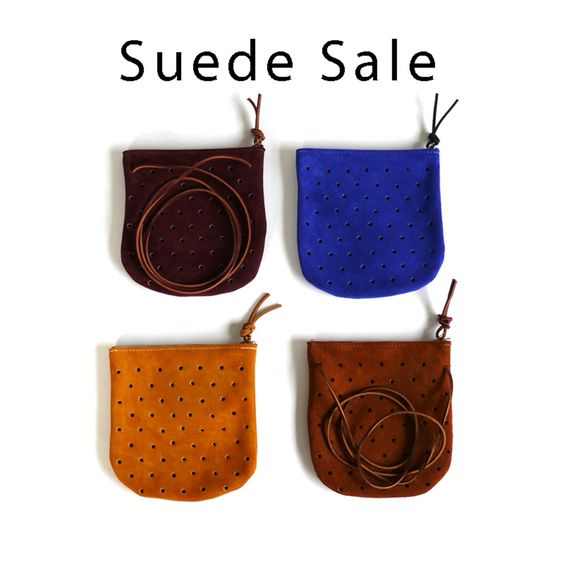 Image of Convertible Suede Pouch