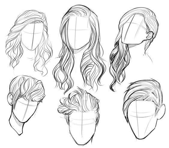 Various Hairs #drawinghair