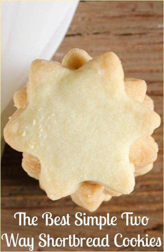 The Best Simple Two Way Shortbread Cookies, the ultimate melt in your ...