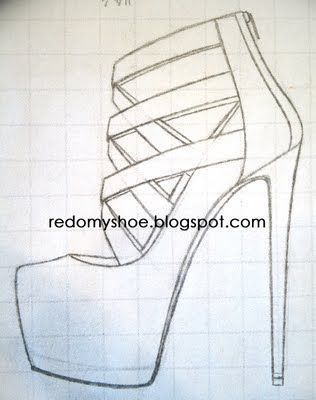 how to draw high heels favorito pinterest high heel drawings and sketches