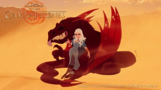'Juego de tronos' Caracteres reinventado como personajes de Disney