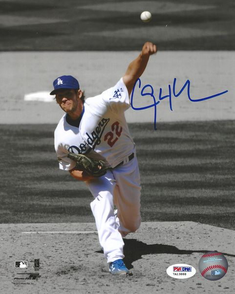Clayton Kershaw Autographed Los Angeles Dodgers 8x10 Photo Psa Dna Itp Stock 94442 Dodgers Los Angeles Dodgers Dodgers Baseball