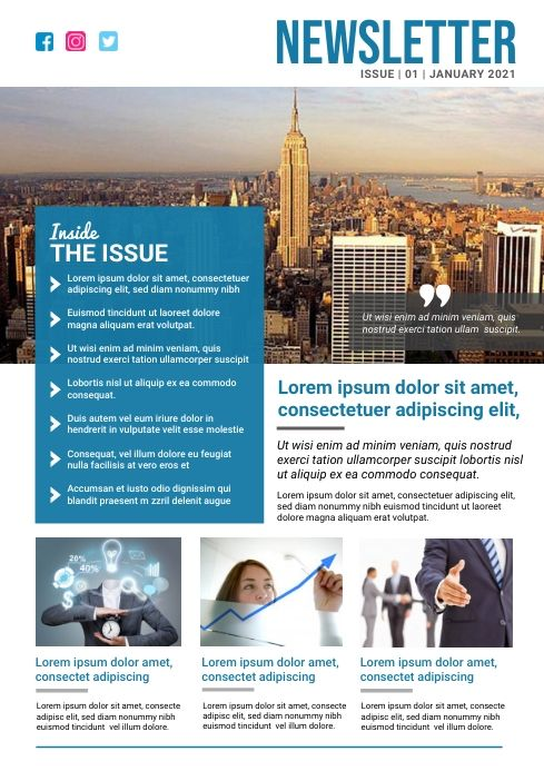 Business Newsletter Template In 2021 Newsletter Templates Corporate Poster Business Newsletter Template