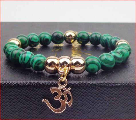Magnifique bracelet en pierres de malachite