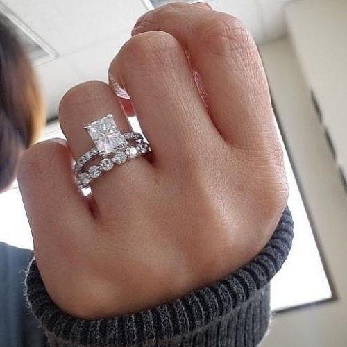 3.00 Ct Diamond 14K White Gold Fn 3 Pieces Engagement Bridal Ring Set Size 5