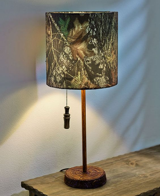 MOSSY OAK TABLE LAMP KITCHEN BEDROOM MAN CAVE NATURE CAMO HOME DECOR For T