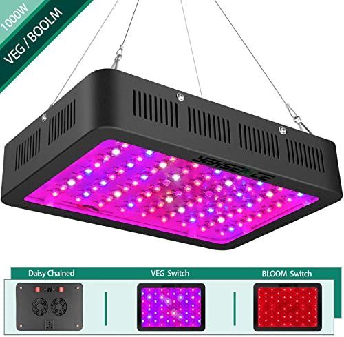 New 1000w Led Grow Light Bloom Veg Switch Yehsence Daisy Chained Led Plant Growing Lamp Full Spectrum 15w Led Triple Chips Professional Indoor Plants Can Repl In 2020 Led Grow Lights Hps Grow Lights