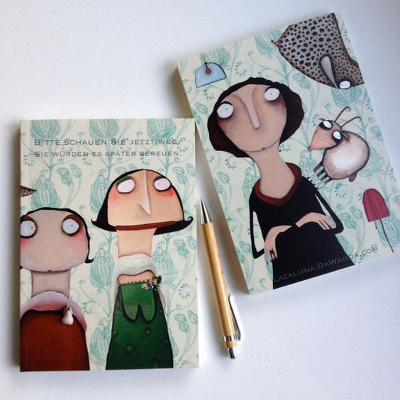 Notizbuch DIN A5 Alle meine Freunde Skizzenbuch von Lacaluna