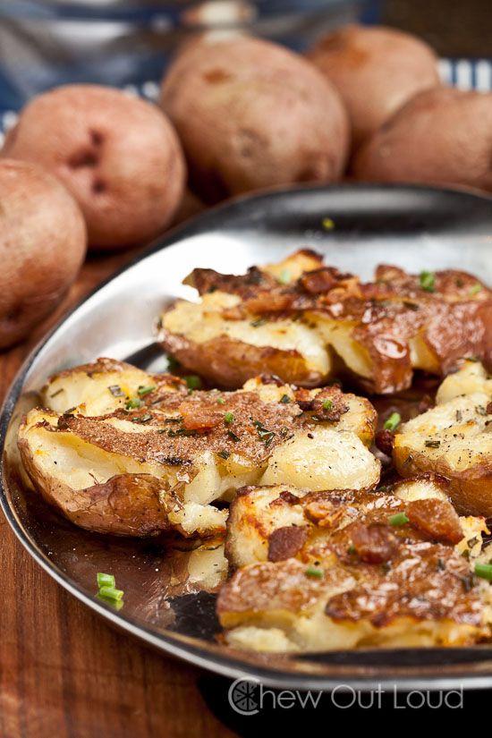 smashed potatoes red crunchy onion bacon potatoes smashed red potato ...