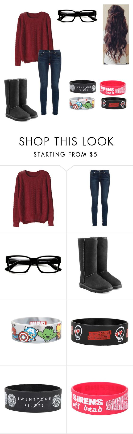 """""""Untitled #139"""" by skybotskyler ❤ liked on Polyvore featuring rag & bone and UGG Australia"""