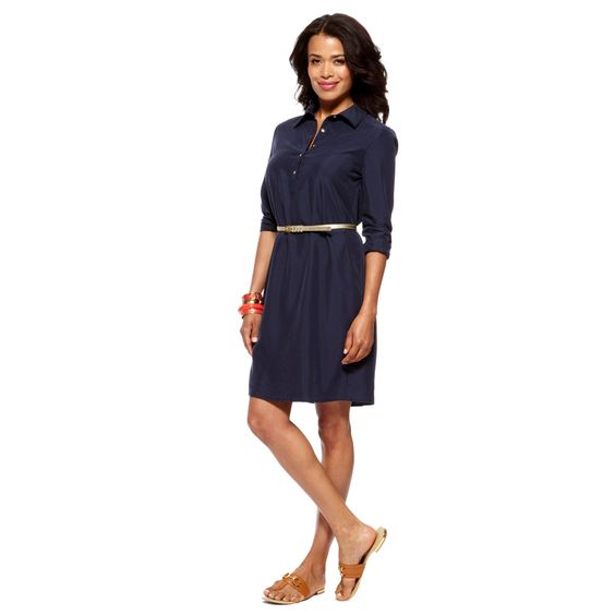 Silky Shirtdress $128.00