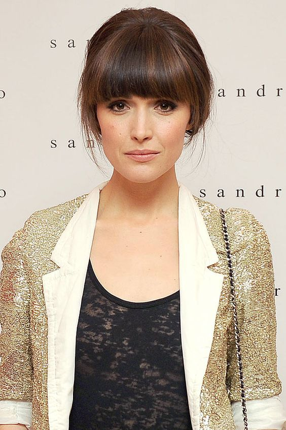 Stupendous Rose Byrne Fringes And Bangs On Pinterest Short Hairstyles For Black Women Fulllsitofus