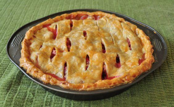 no sugar added strawberry rhubarb pie