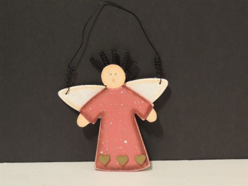 Holiday - HC00763 - Christmas Ornament - Shabby Chic Wooden Angel