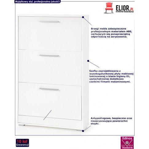 Zdjecie Szafka Na Buty Lines St1 Biala Sklep Edinos Pl Filing Cabinet Furniture Storage