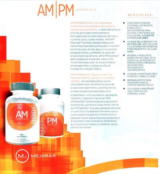 AM & PM energia durante el dia, y sueño de calidad en la noche, regenera el ADN