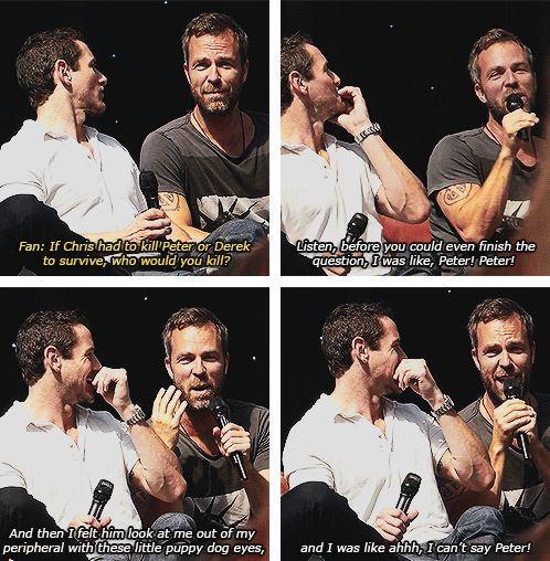 Peter's true power is getting people to like and trust him... ;) #TeenWolf (Not Sterek but seriously... lol)