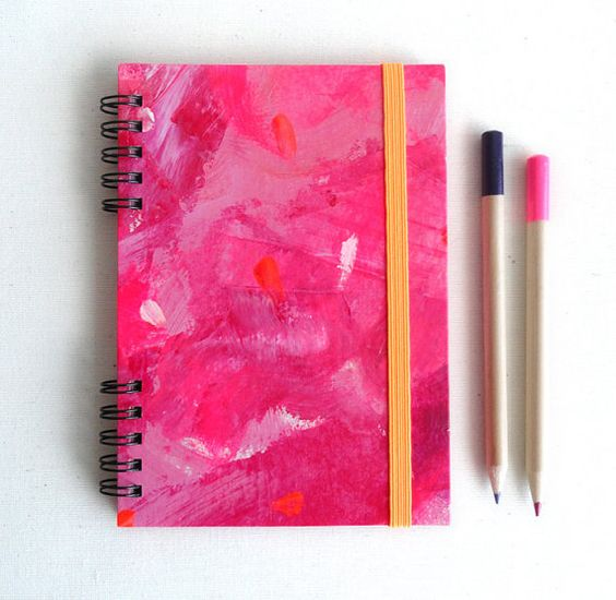 Pink panter Notebook. Hardcover and elastic band. por kinmcuadernos, €12.00
