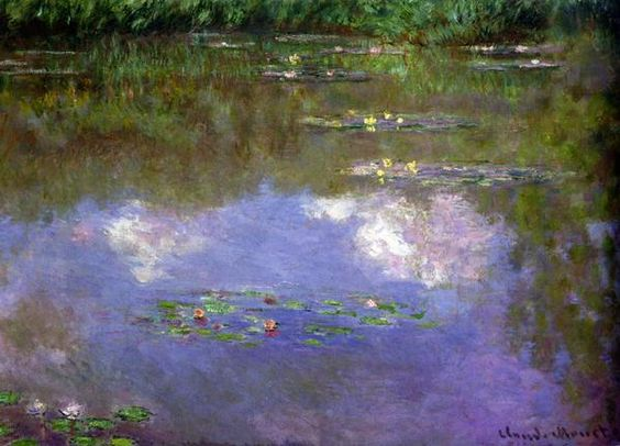 Claude Monet Water lilies, the Clouds
