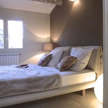 Chambre contemporaine poutre apparente maison briarde pinterest - Deco poutre apparente ...