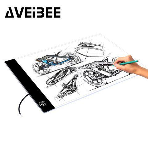 Digital Original Tabletas A4 Led Artista Grafico Fino Arte Plantilla Tablero De Dibujo Caja De Luz De Mesa Tablero De Dibujo Suministros De Oficina Caja De Luz