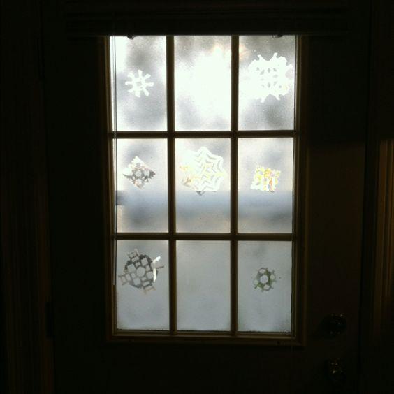Snowflakes fake snow and on pinterest