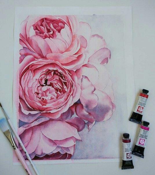 Pinterest Karenl3a Mit Bildern Blumen Aquarell Blumen Malen