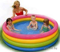 Бассейн надувной детский `Радуга` (168х46 см)