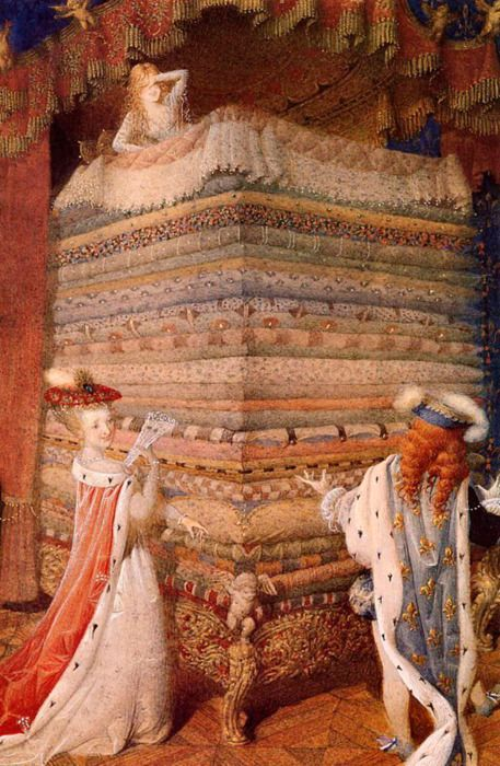 Gennady Spirin (Russian, contemporary illustrator) ~ Princess and the Pea; Hans Christian Andersen's Favorite Fairy Tales