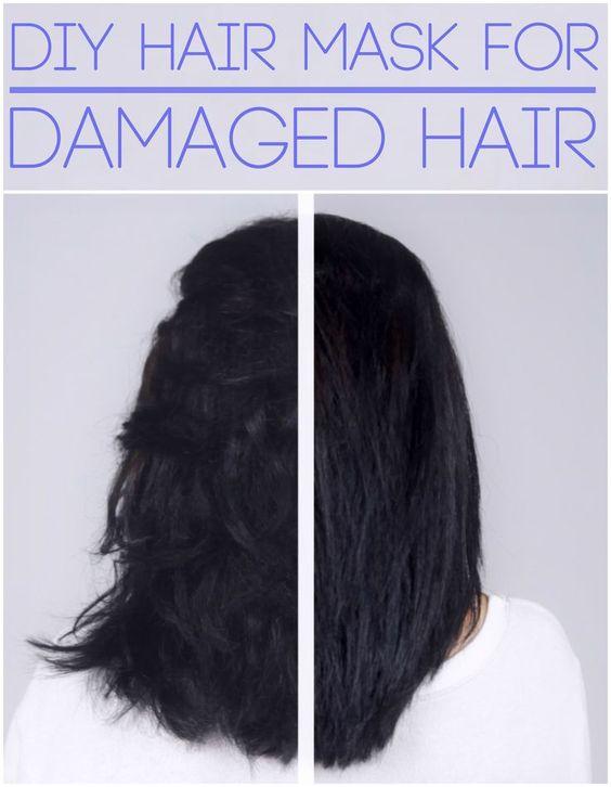 dry damaged hair diy hair and coconut on pinterest. Black Bedroom Furniture Sets. Home Design Ideas
