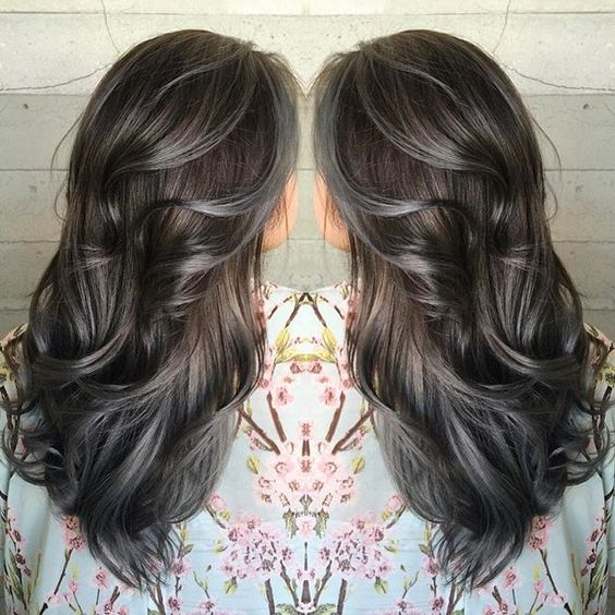 Shades of pewter and charcoal hair color by Janai of Butterfly Loft Salon #hotonbeauty facebook.com/hotbeautymagazine: