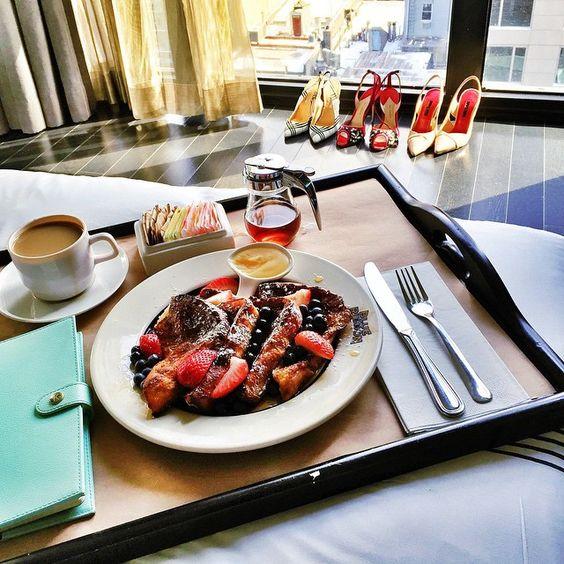 """Saying goodbye to #NYFW w/ French toast @sixtyhotels"""