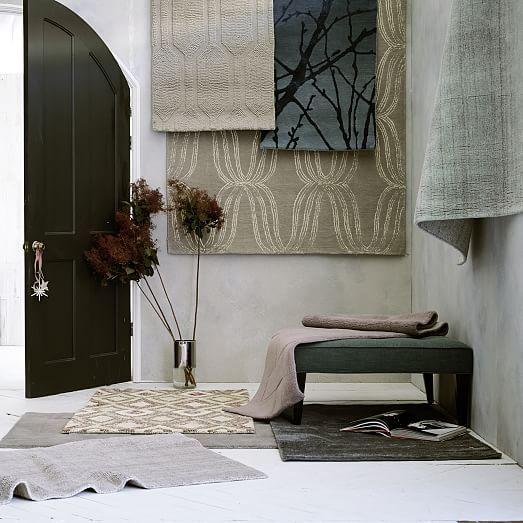 Hand Loomed Shine Rug Mountain Mist Home Decor Modern Furniture Home