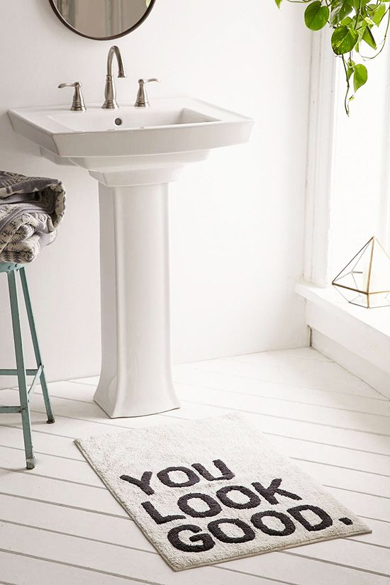 Innovative Long Area Rug In Bathroom Instead Of Small Bath Mats