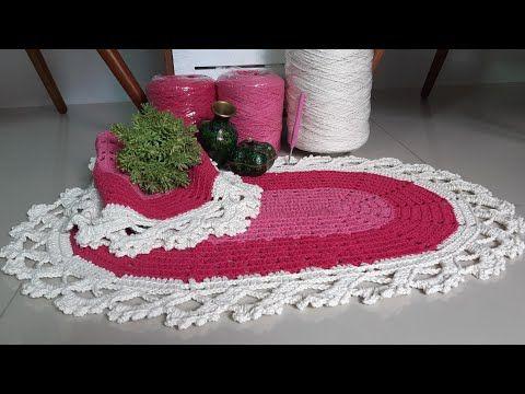 Tapete Oval Liza Em Croche Com Bico De Carreira Unica